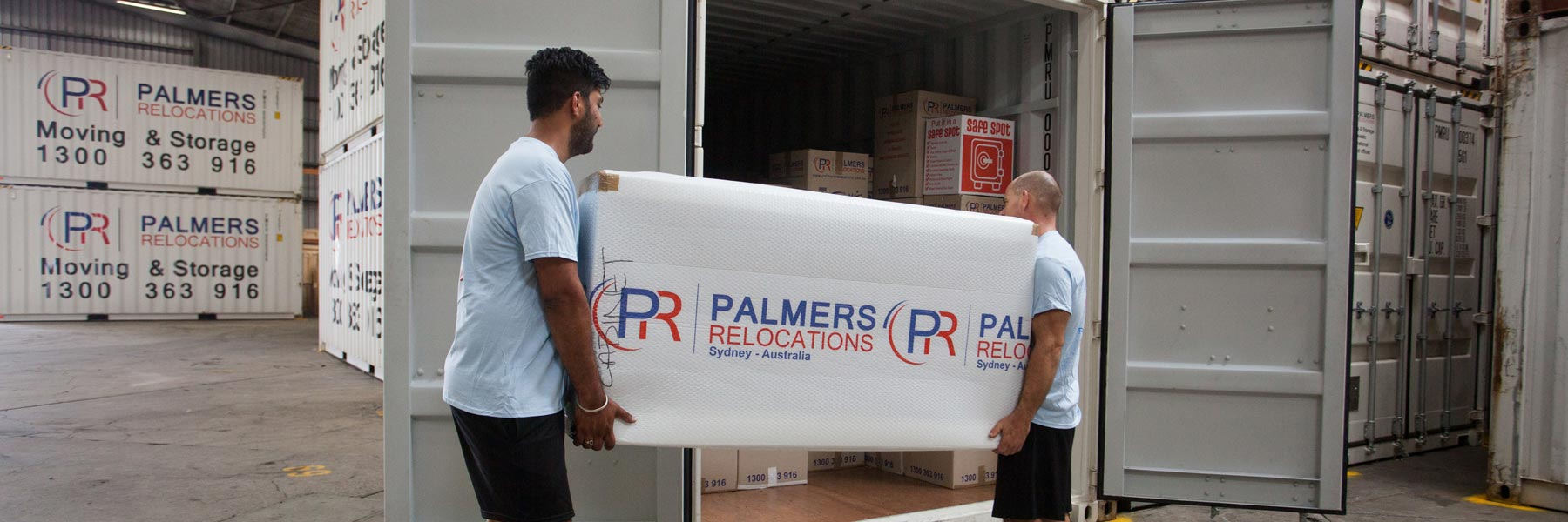 Palmers Loading A Customers Container Storage In Sydney