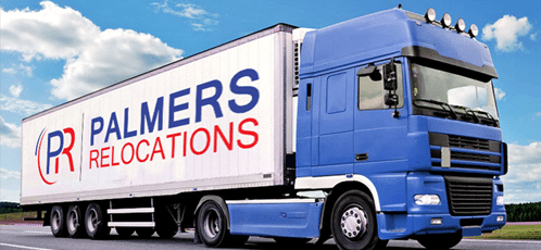 truck with palmers relocations logo on the side