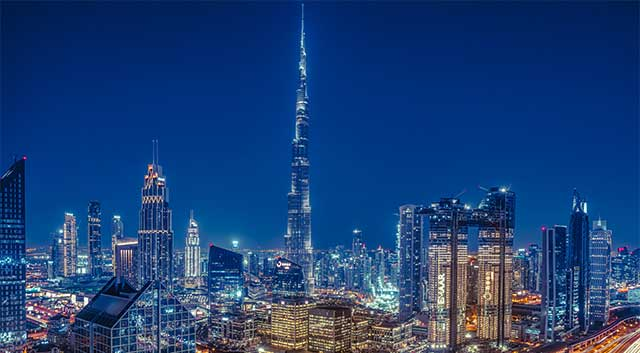 dubai city at down time