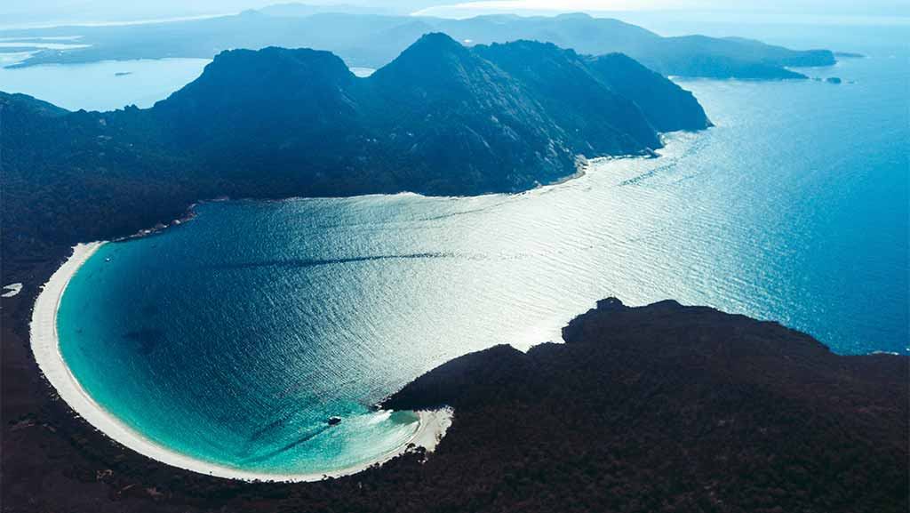 view of a beach in tasmania