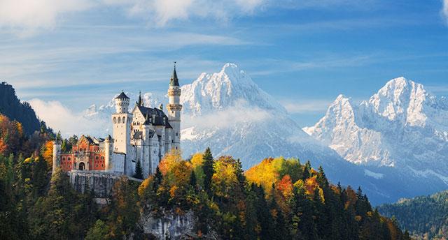 Disneys castlein the village of Neuschwanstein