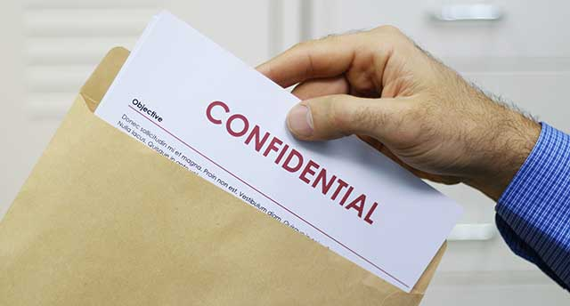 Confidential Mails Received at Home
