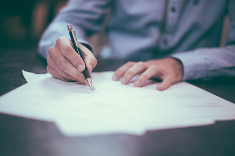 signing transit insurance forms