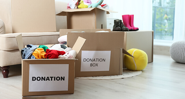 Declutter Your Home donation box